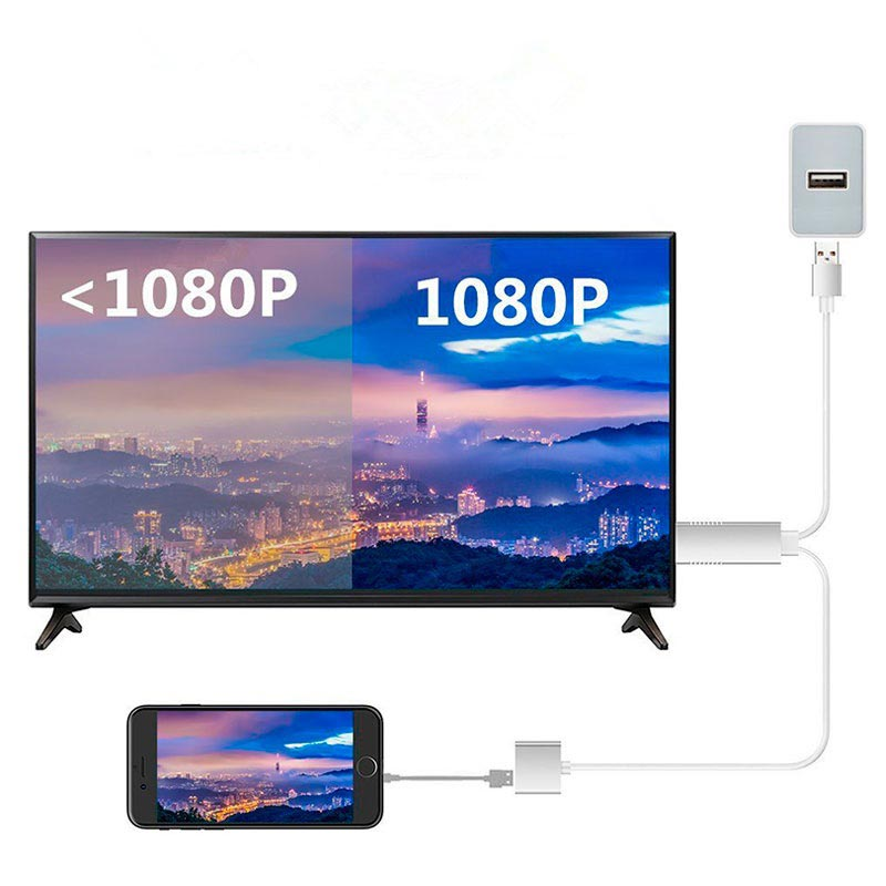 Full HD Mirroring Kabel - Lightning, microUSB, USB-C/HDMI Adapter