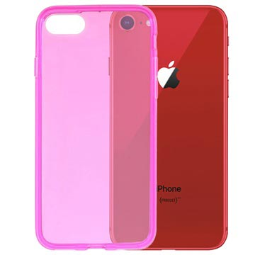 iPhone 7 / iPhone 8 Glossy TPU Hülle - Hot Pink