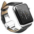 Apple Watch Series 5/4/3/2/1 Qialino Leder Armband - 42mm, 44mm - Schwarz