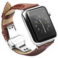 Apple Watch Series 4/3/2/1 Qialino Leder Armband - 42mm, 44mm - Braun