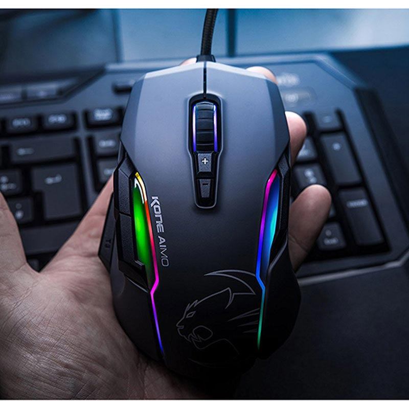 Roccat Kone Aimo RGBA Optical Gaming Maus - Schwarz