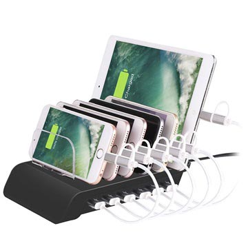 Universal 6-Port USB Schnell Dockingstation - Schwarz