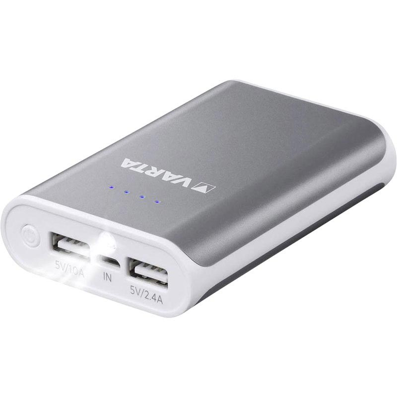Varta Powerpack 10400mAh Powerbank - Grau